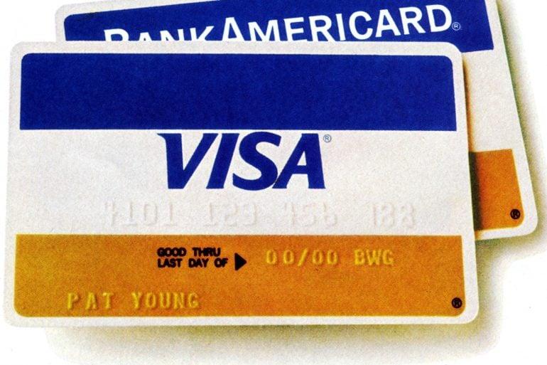 BankAmericard becomes Visa card (1977)