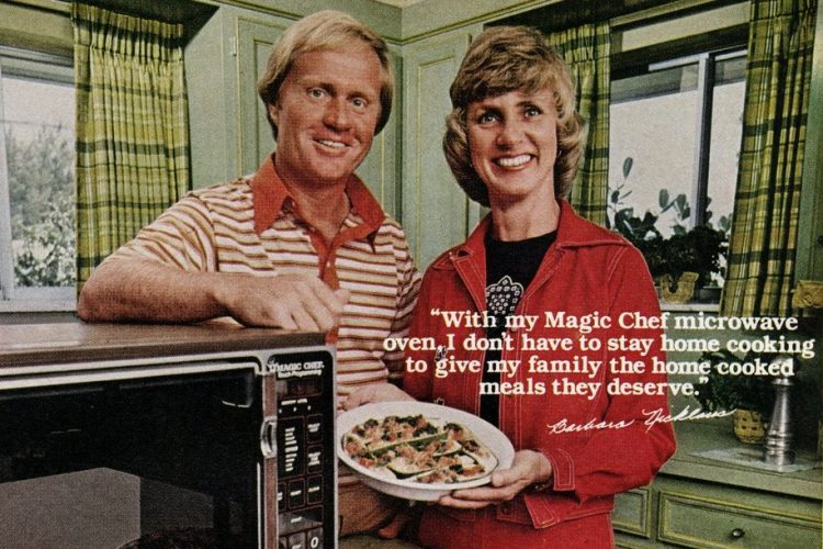 Barbara and Jack Nicklaus for Magic Chef kitchen appliances 1970s