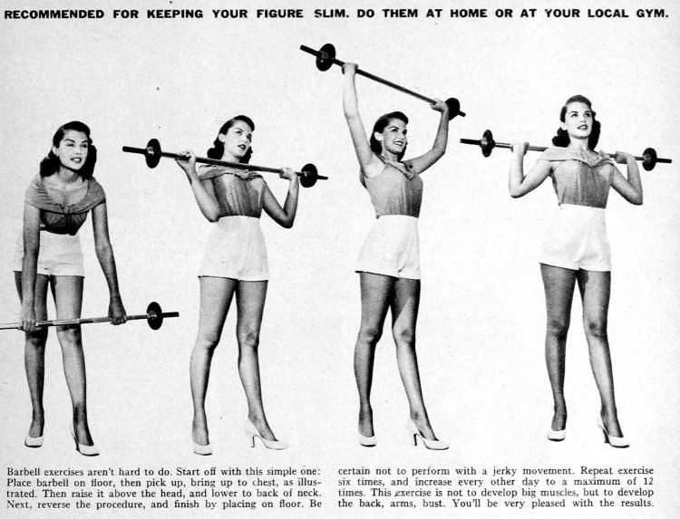 Barbell workouts for women - 1953