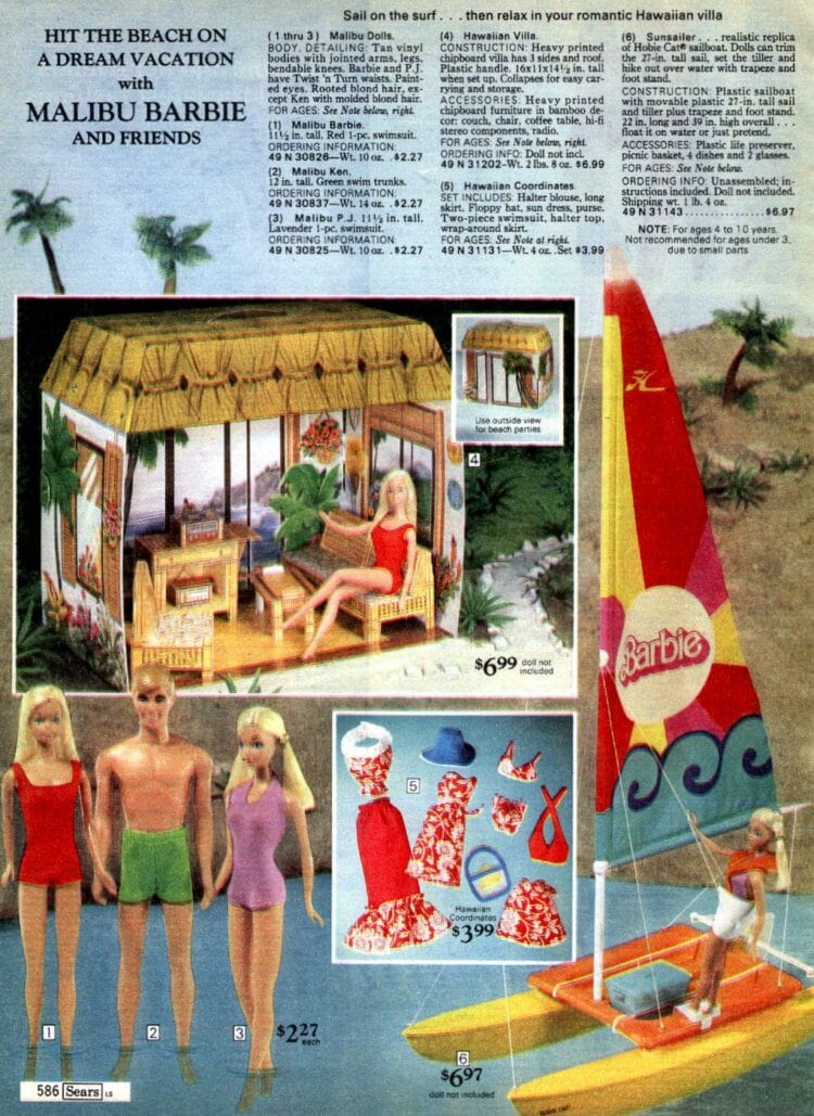 Barbie and Malibu Ken from 1976 catalog