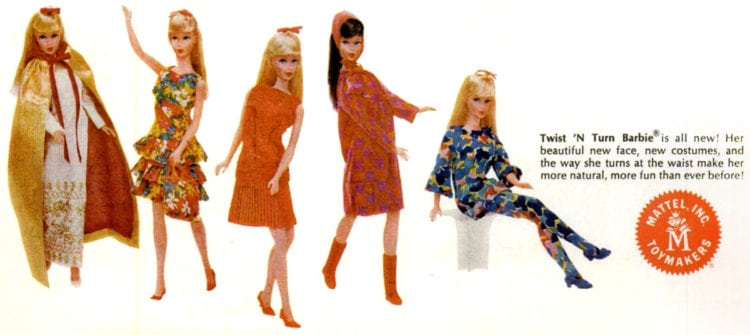 Retro Barbies of 1967