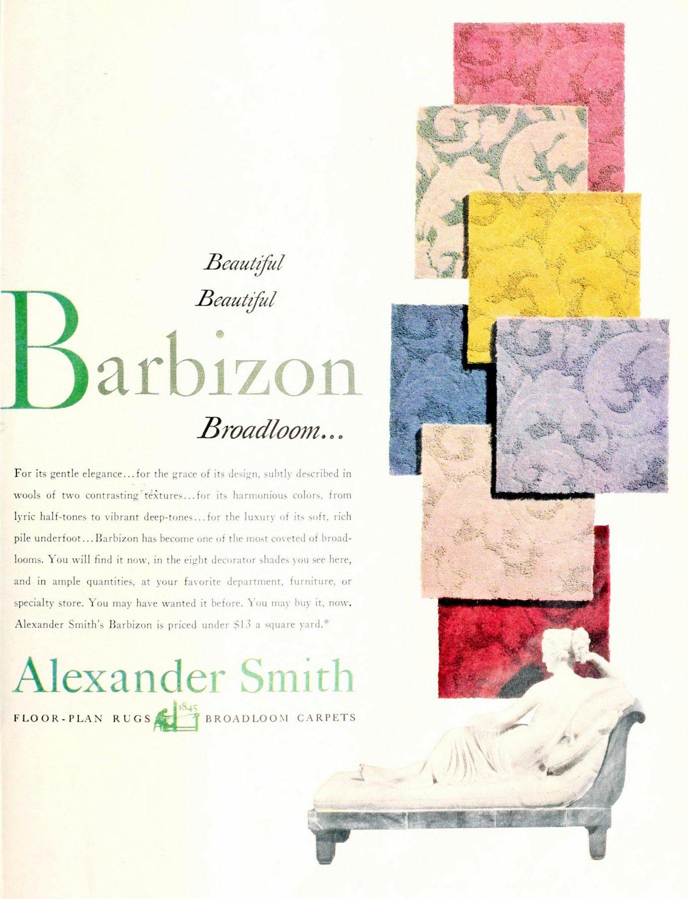Barbizon brand textured vintage carpets (1950)