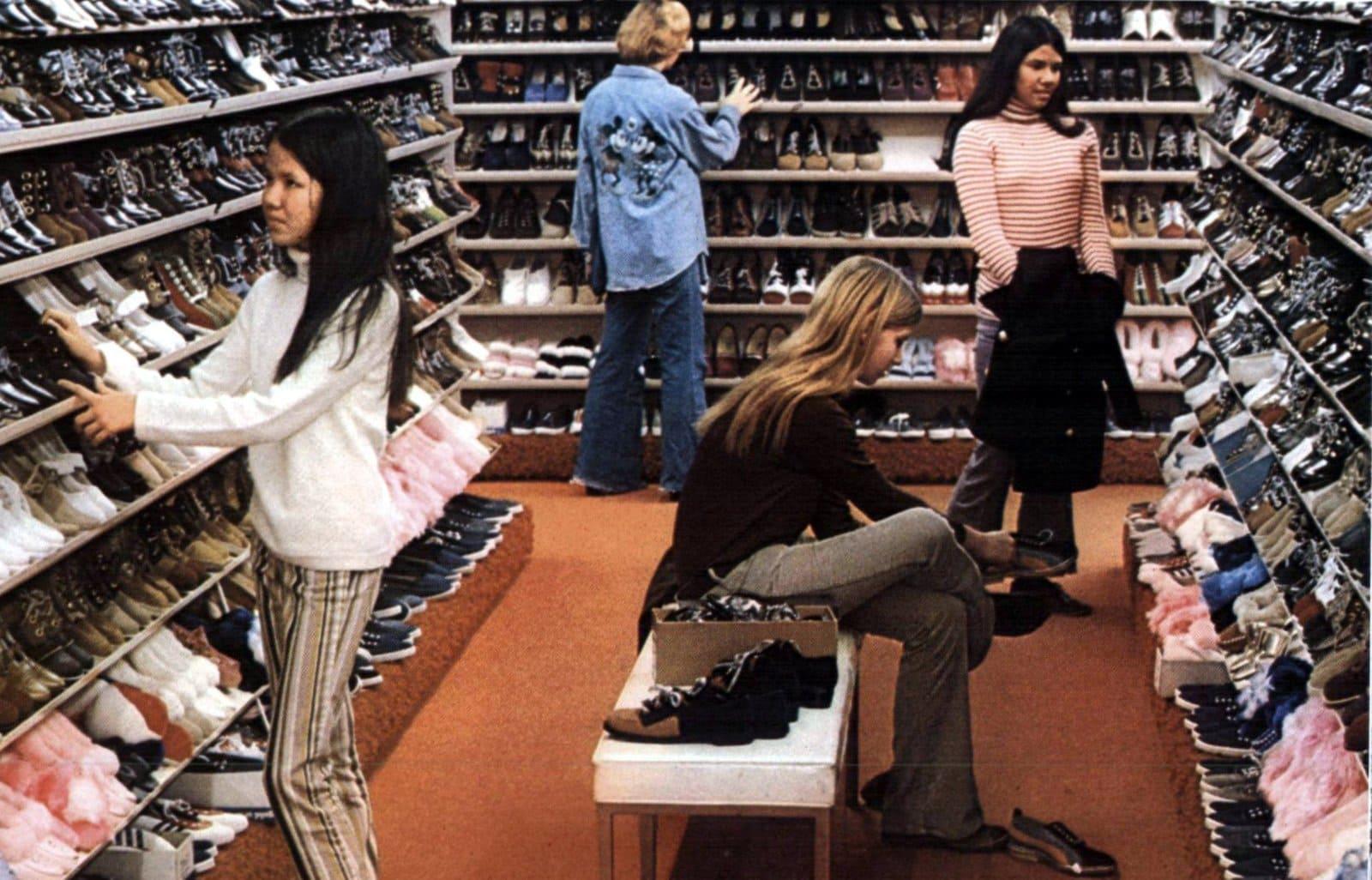 Bargain shoe shopping in 1971