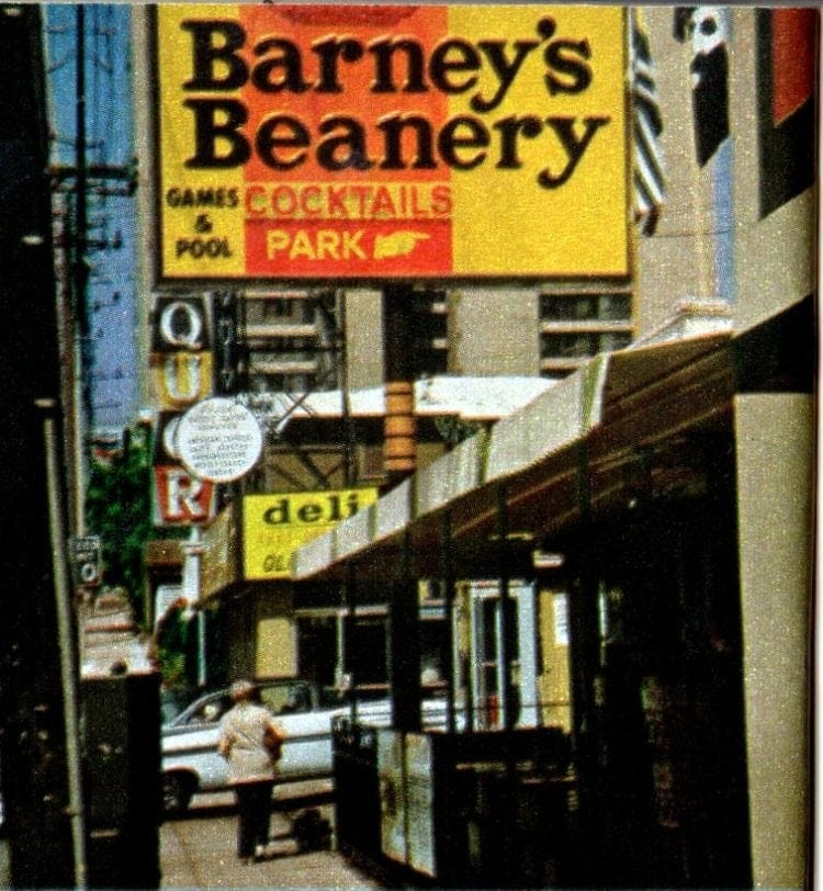 Vintage Barney's Beanery