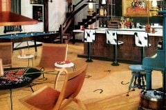 Basement remodeling ideas from 1958 - Western theme decor