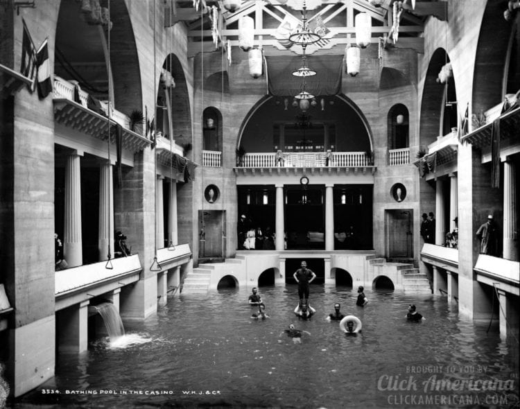 Bathing pool in the casino Florida Saint Augustine 1880s