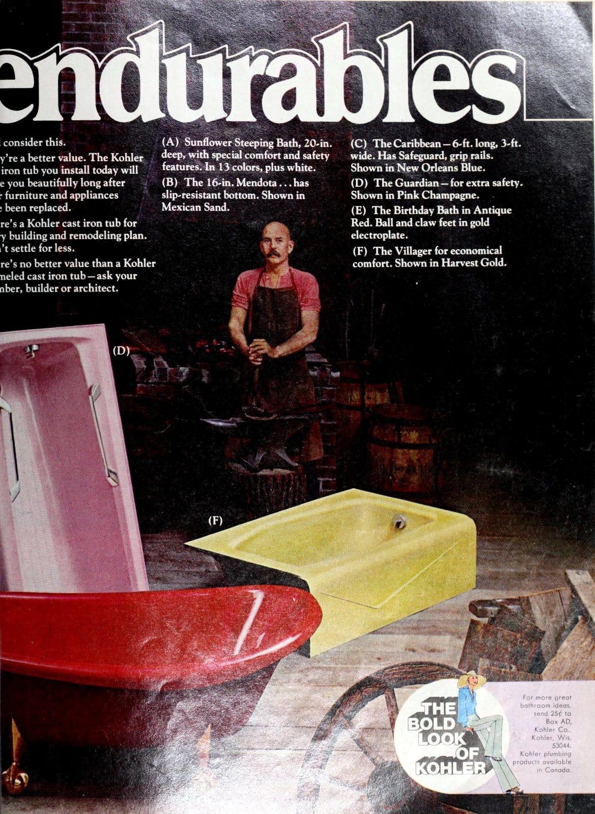 Bathroom fixtures - enameled cast iron KohlerEndurables from 1975 (1)