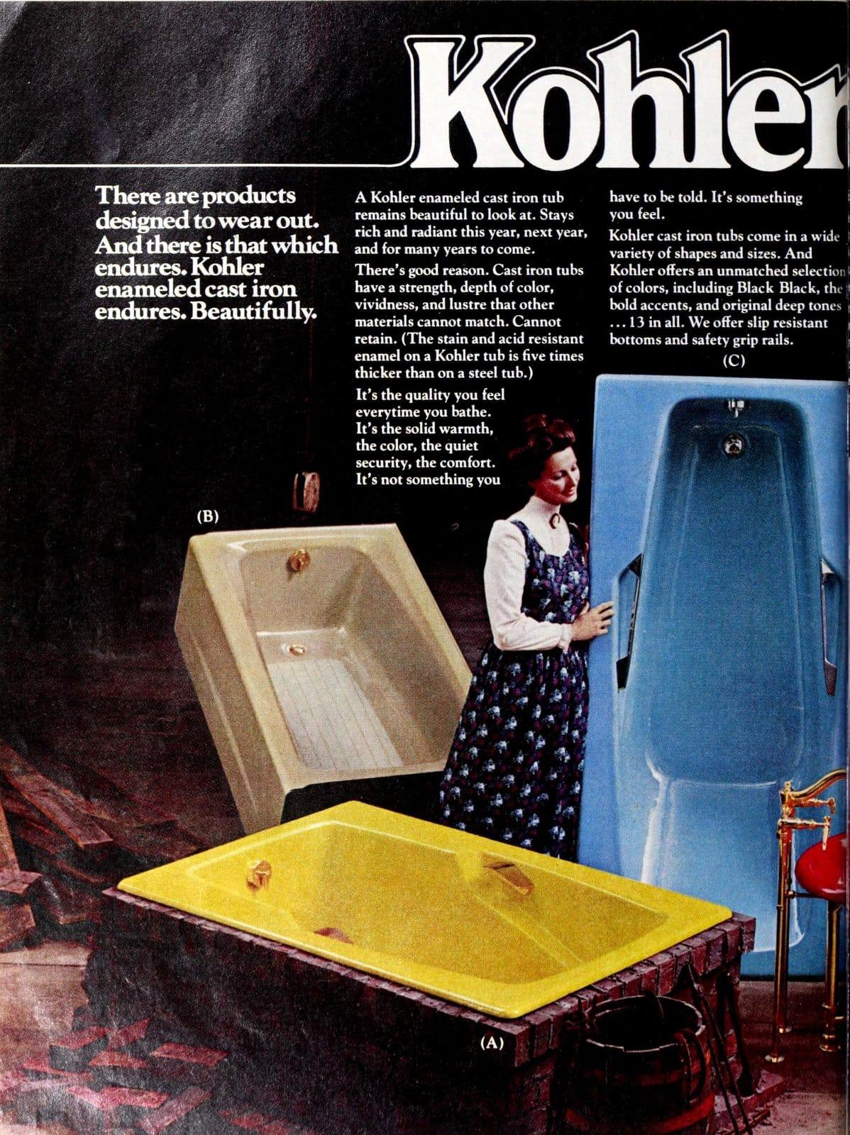 Bathroom fixtures - enameled cast iron KohlerEndurables from 1975 (2)