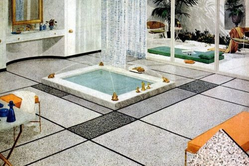 Bathroom floors from the '50s