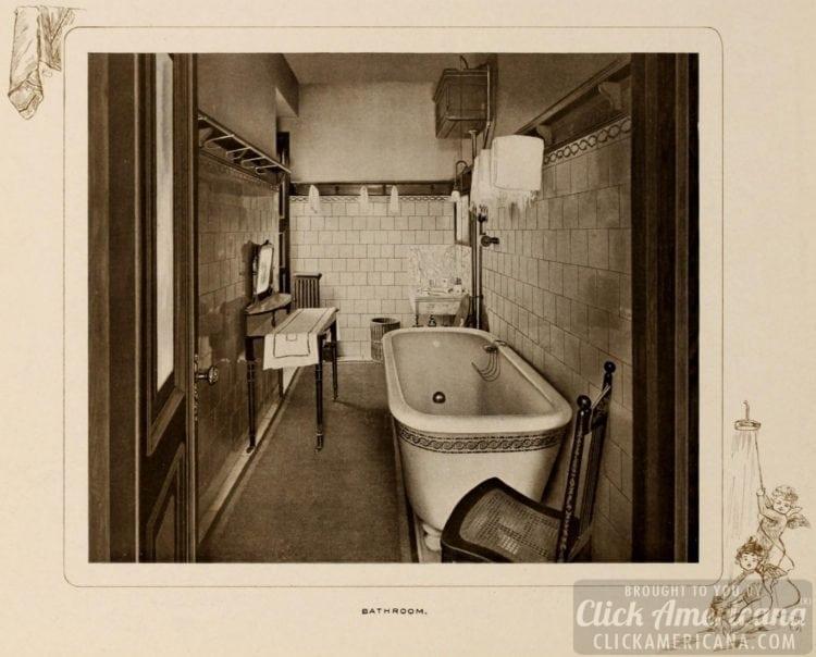 Bathroom in Waldorf-Astoria Hotel room - 1903