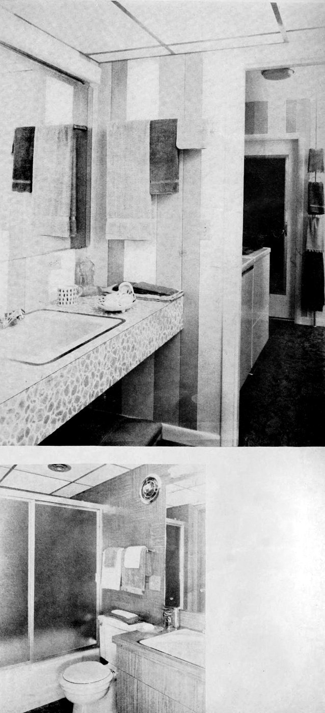 Bathrooms in retro '60s style