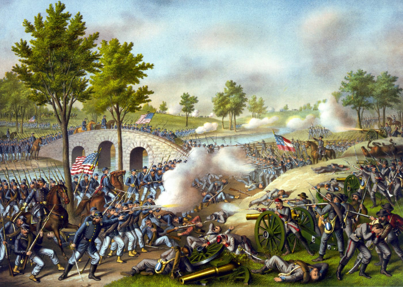 Battle of Antietam - Army of the Potomac by Kurz and Allison (1888)