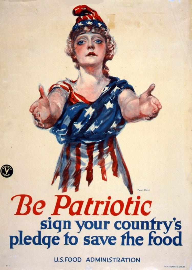 Be patriotic--sign your country's pledge to save the food