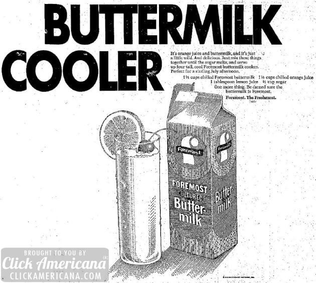 Beat the heat with a buttermilk cooler (1971)