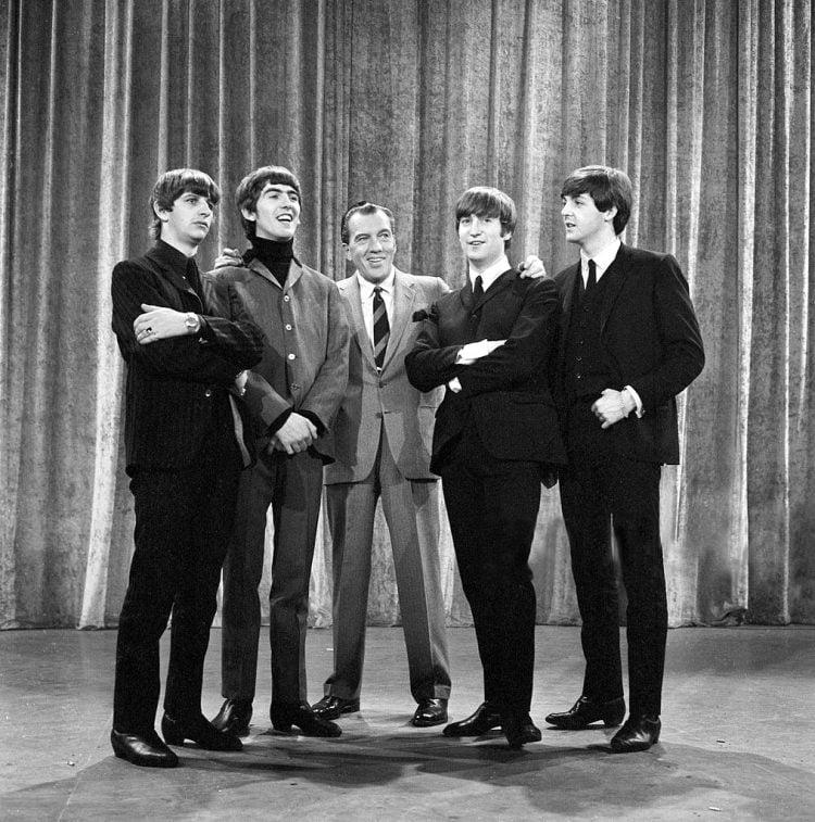 Beatles with Ed Sullivan 1964
