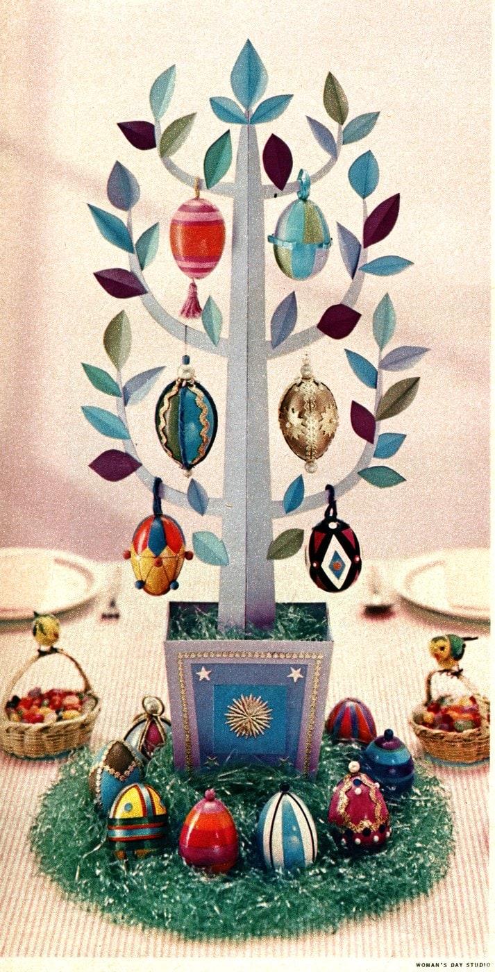 Beautiful Easter egg tree craft