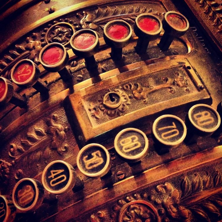 Beautiful antique cash register