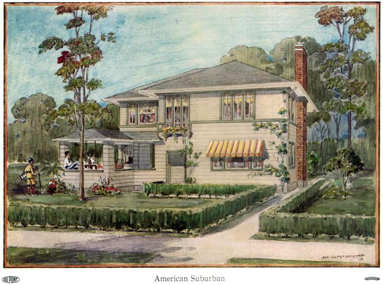 Beautiful homes from 1919 - American suburban house