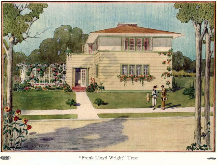 Beautiful homes from 1919 - Frank Lloyd Wright-style house