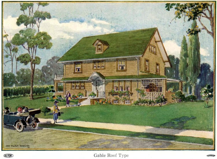 Beautiful homes from 1919 --Gable roof house