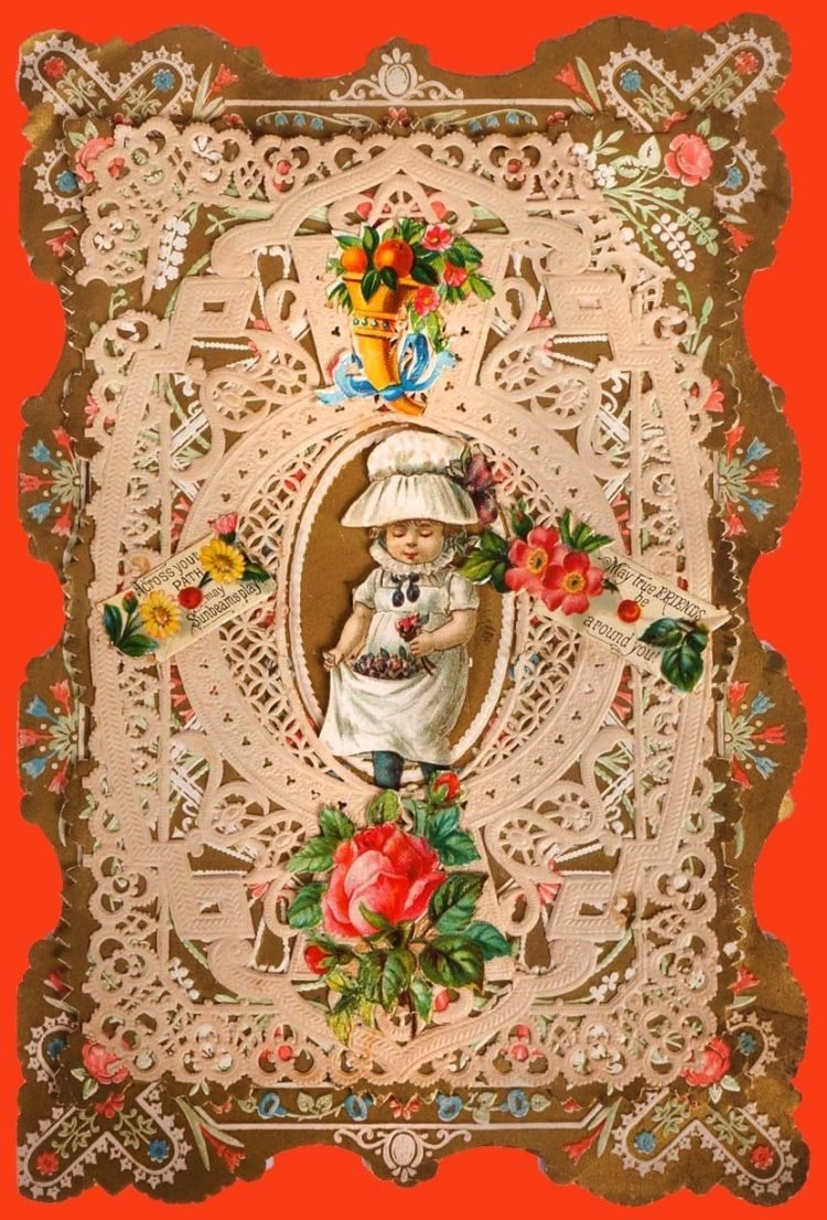 Beautiful intricate Valentine's Day card from the Victorian era (3)