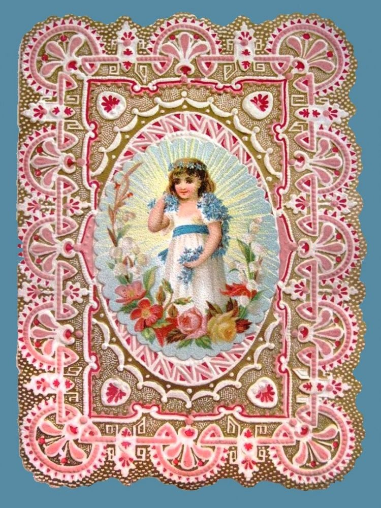 Beautiful intricate Valentine's Day card from the Victorian era (4)