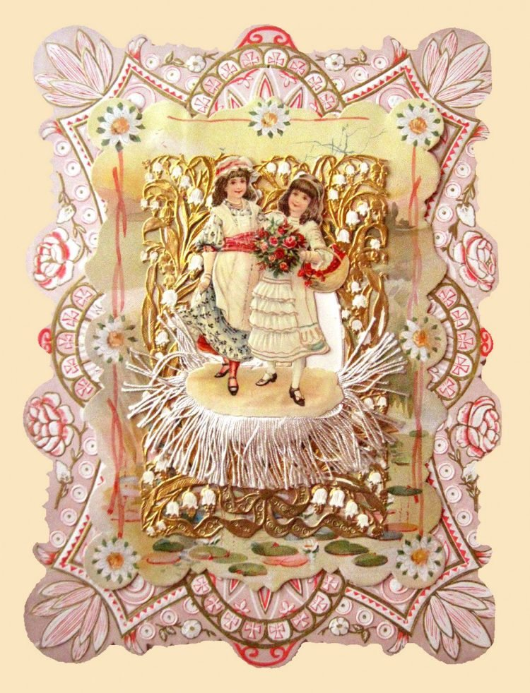 Beautiful intricate Valentine's Day card from the Victorian era (5)