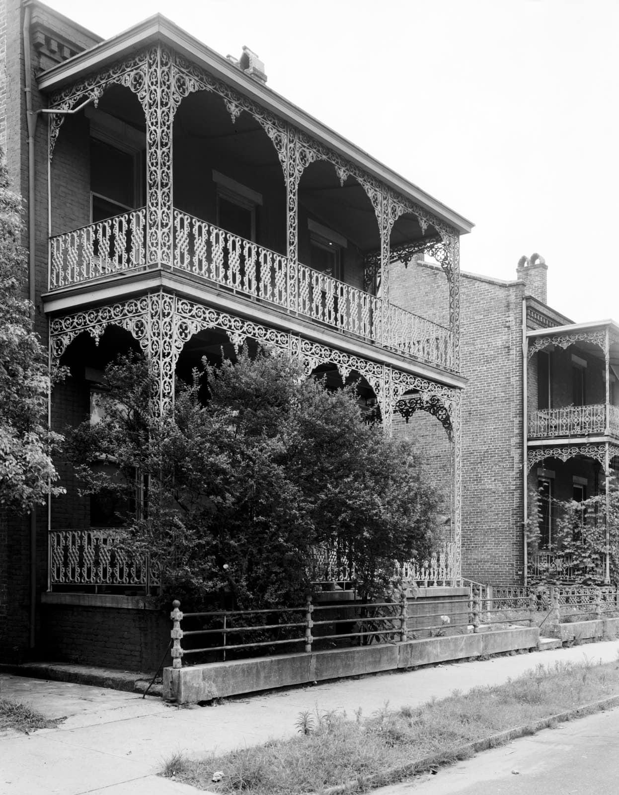 Beautiful iron balcony Margaret Gonzales' house, 352 State St., Mobile, Alabama (1939)