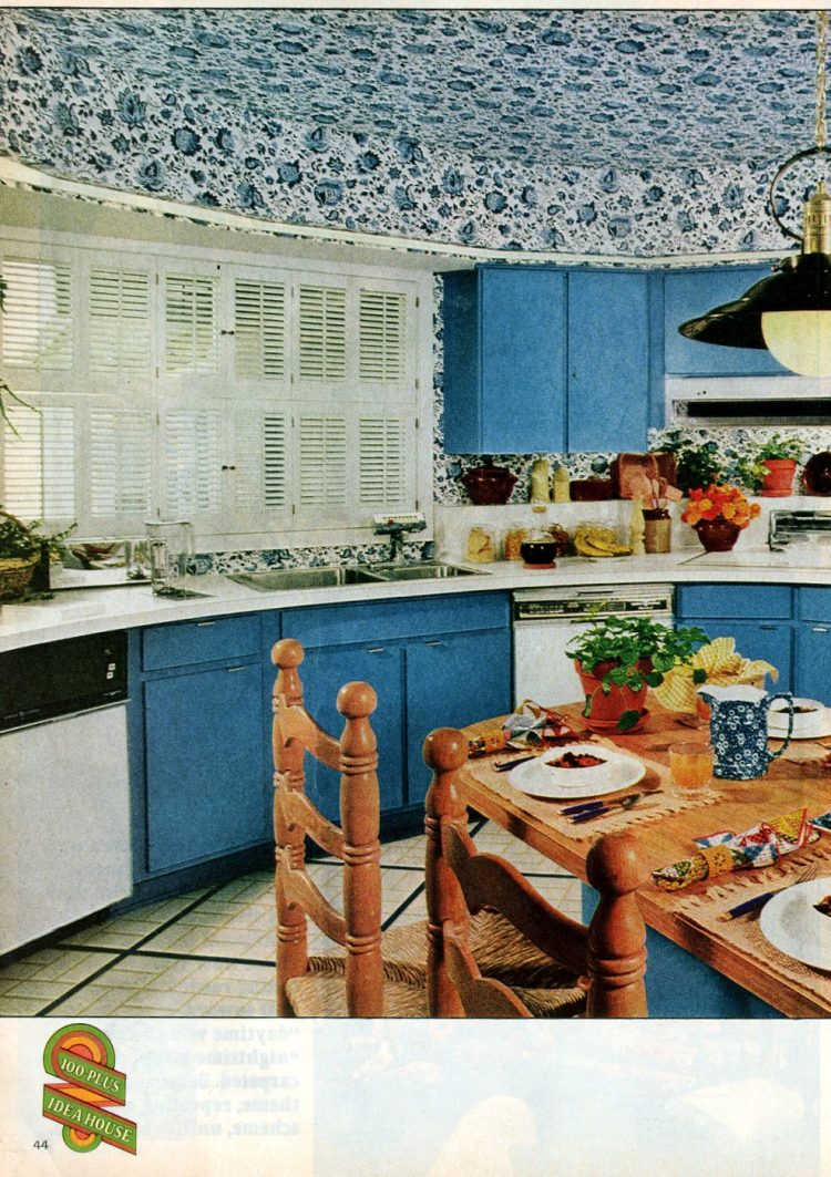 Beautiful practical 1975 model home - Blue kitchen