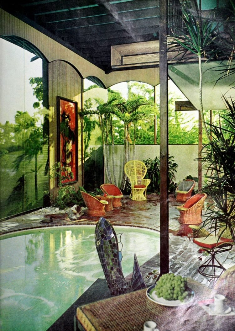 Beautiful private vintage-style swimming pool from 1966 (1)