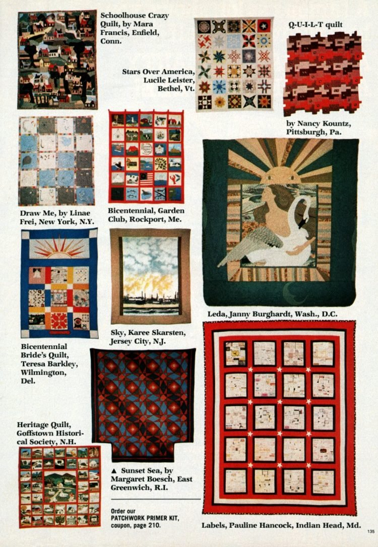 Beautiful prize-winning quilts from the 1970s (1)