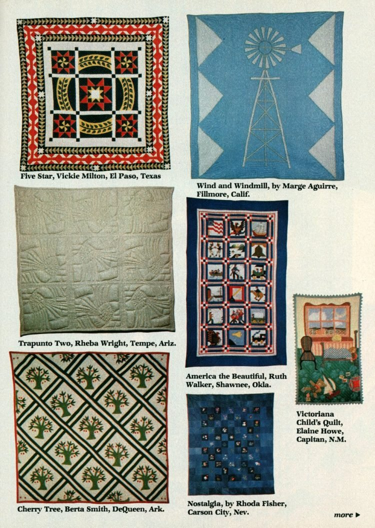 Beautiful prize-winning quilts from the 1970s (10)
