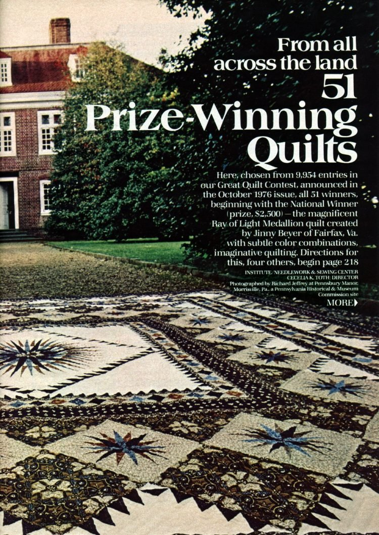 Beautiful prize-winning quilts from the 1970s (2)