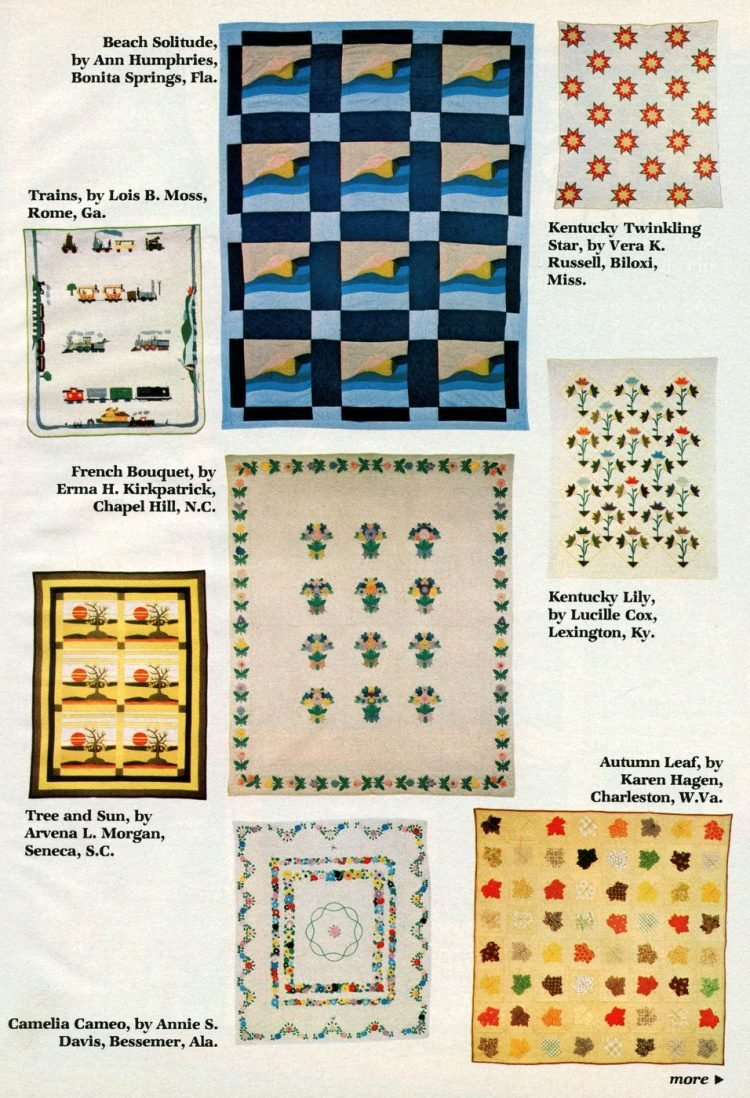 Beautiful prize-winning quilts from the 1970s (4)