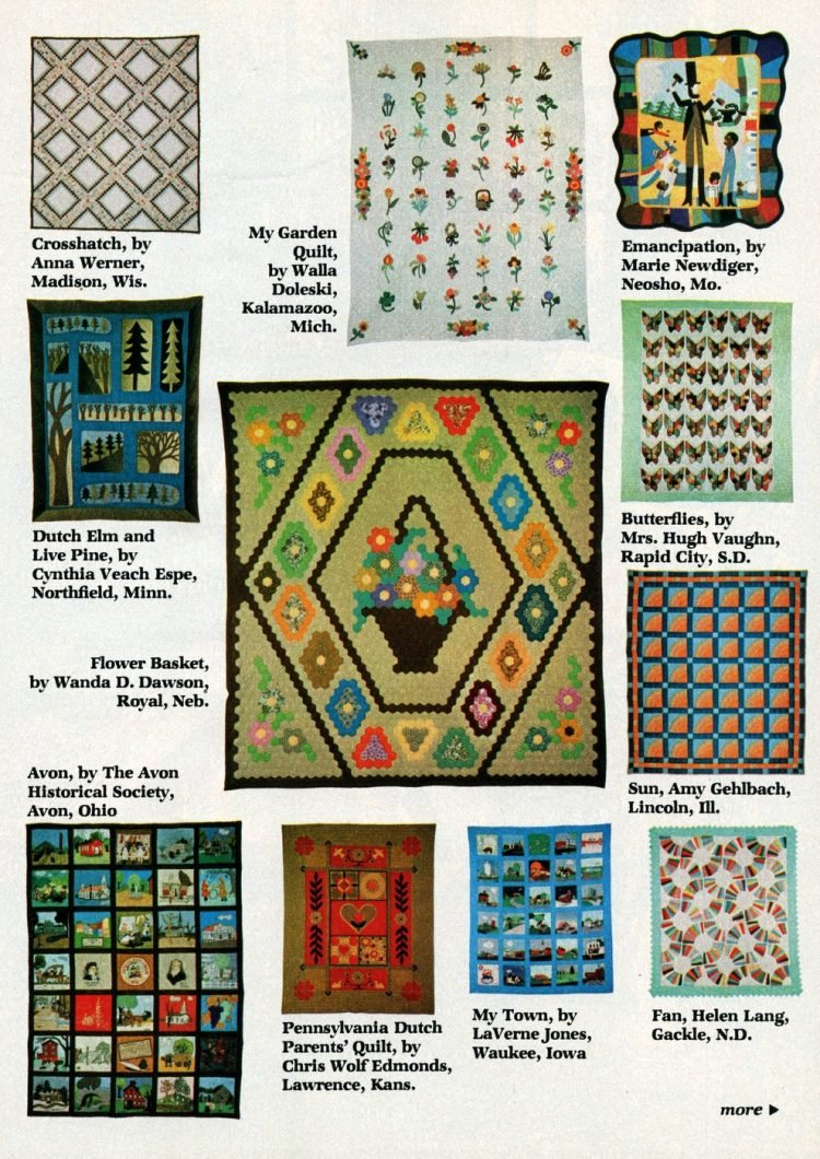 Beautiful prize-winning quilts from the 1970s (6)