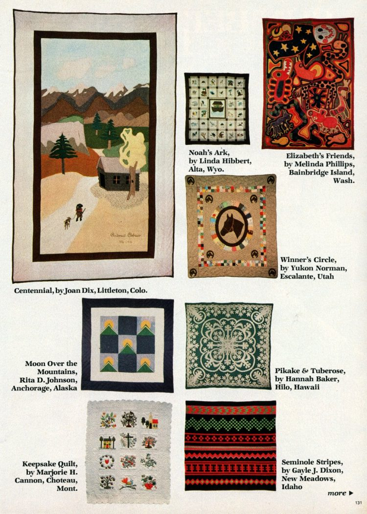 Beautiful prize-winning quilts from the 1970s (8)