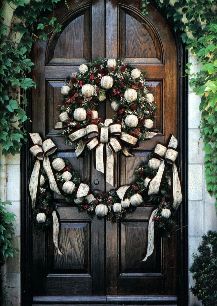 Beautiful retro Christmas door wreaths from the 70s (1)