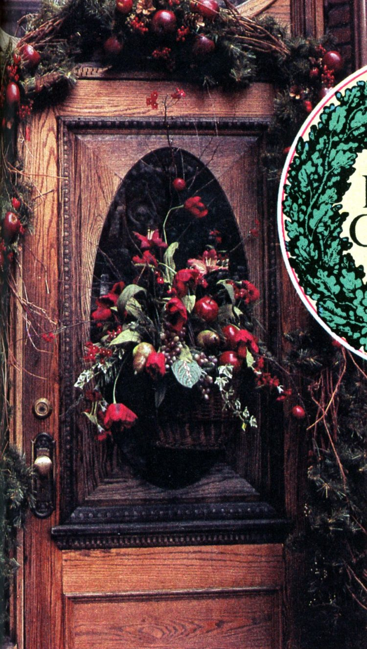 Beautiful retro Christmas door wreaths from the 70s (2)