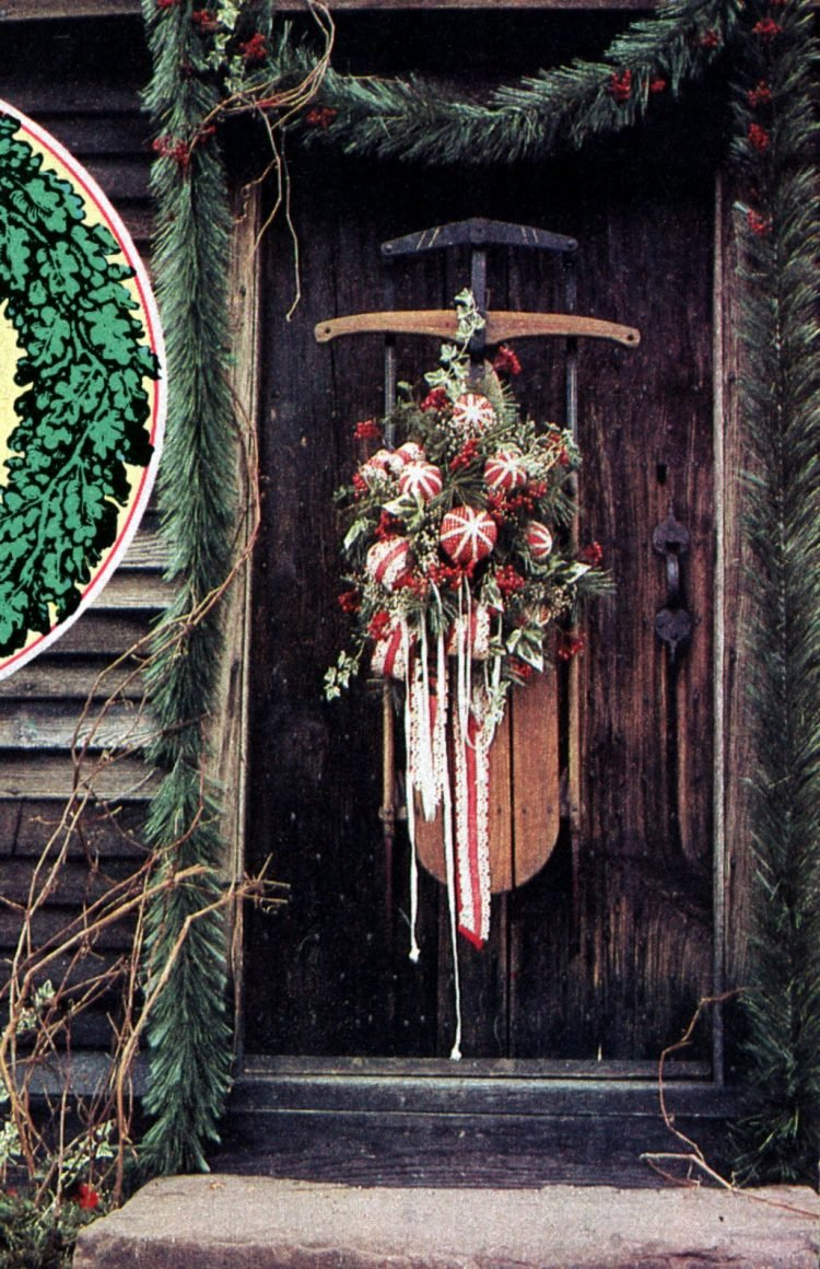 Beautiful retro Christmas door wreaths from the 70s (4)