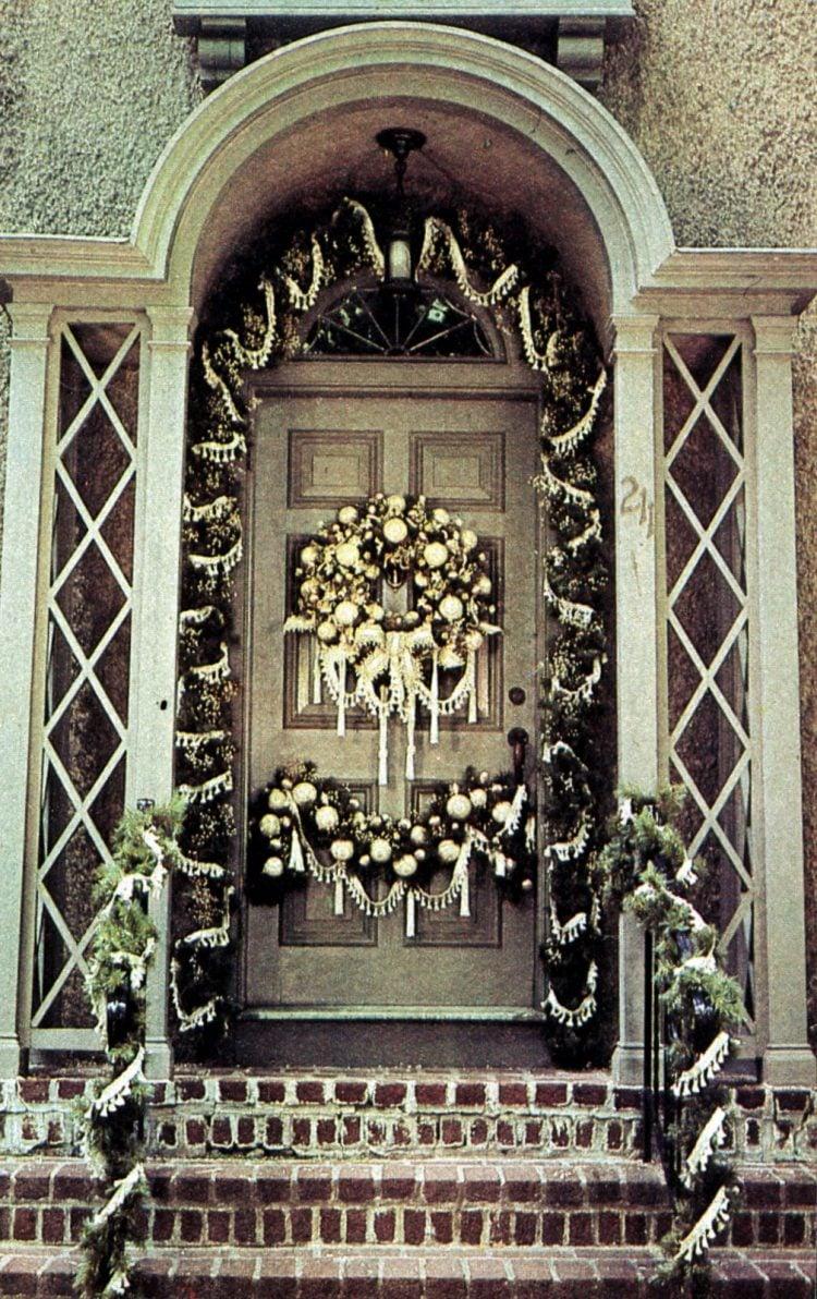 Beautiful retro Christmas door wreaths from the 70s (5)