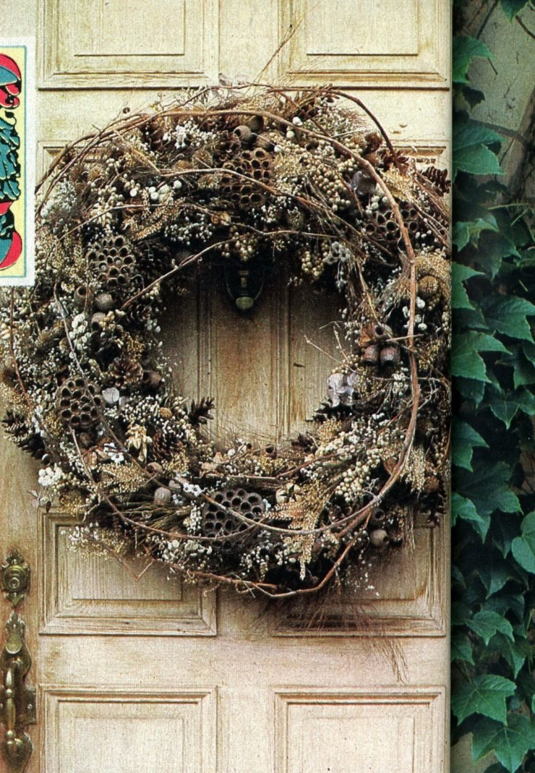 Beautiful retro Christmas door wreaths from the 70s (8)
