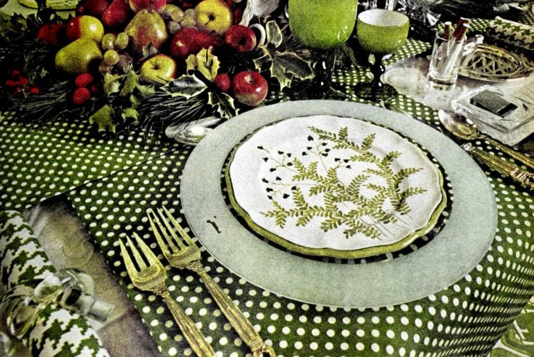 Beautiful vintage '70s table setting ideas