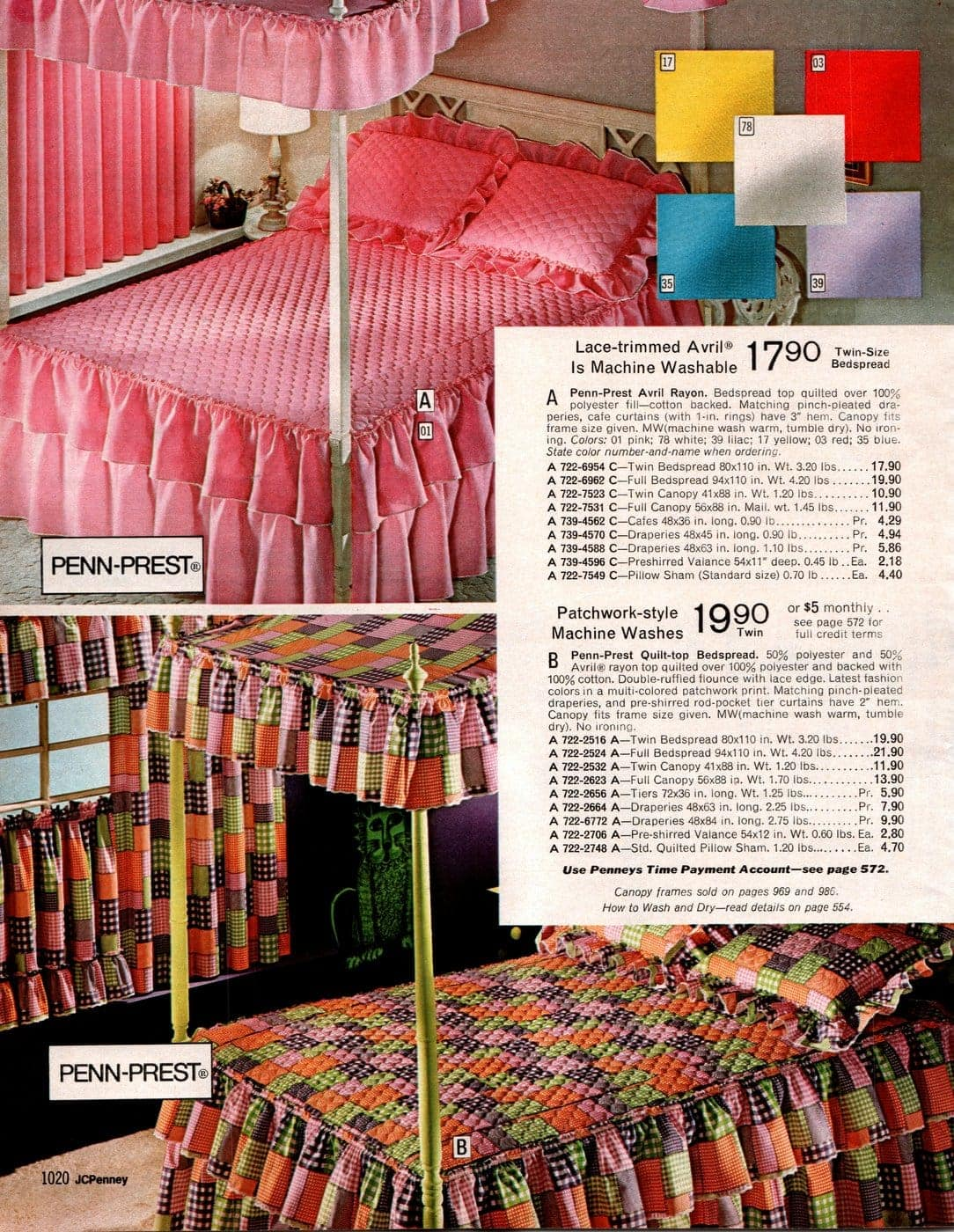 Beautiful vintage canopy beds from the 1970s (12)