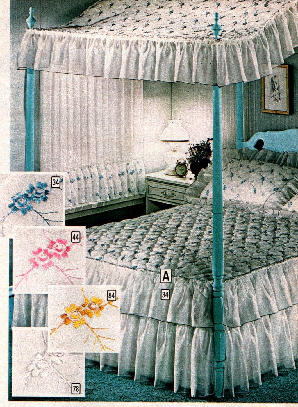 Beautiful vintage canopy beds from the 1970s (13)