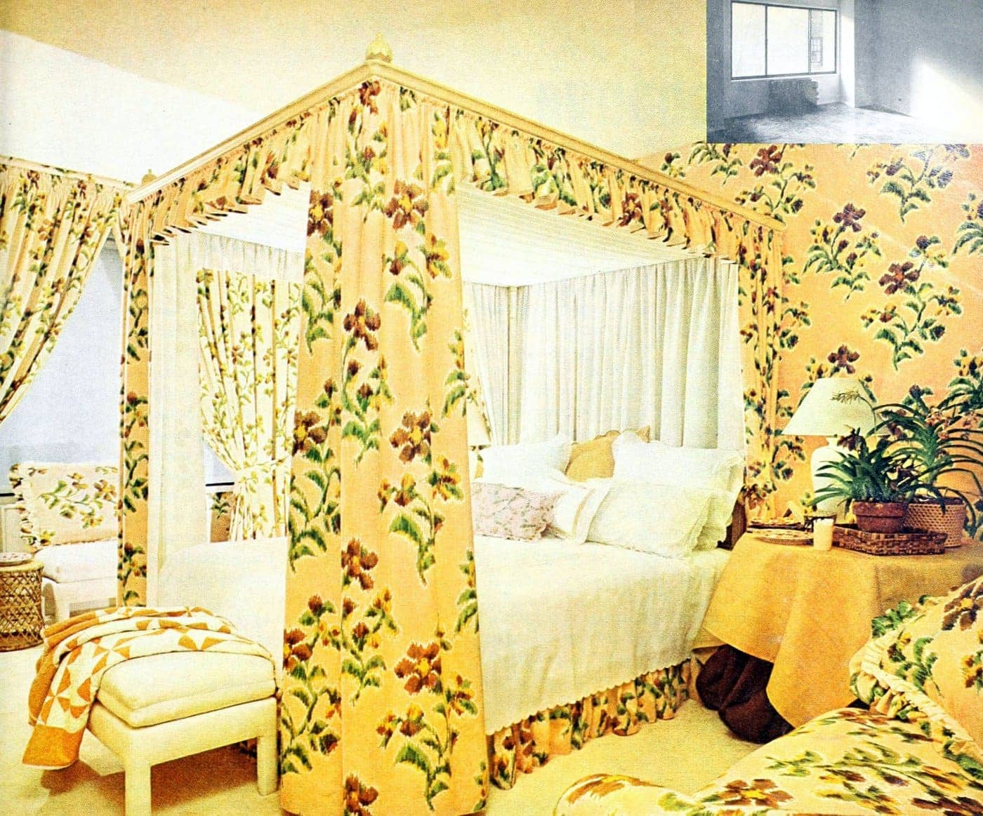 Beautiful vintage canopy beds from the 1970s (8)