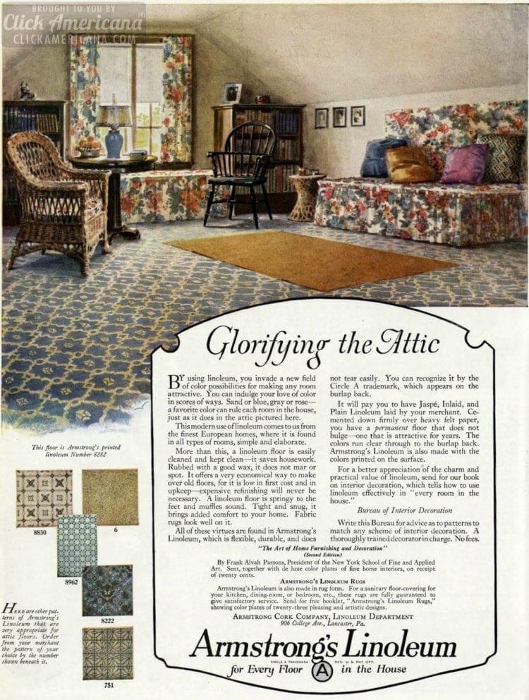 20s home decor: Glorifying the attic