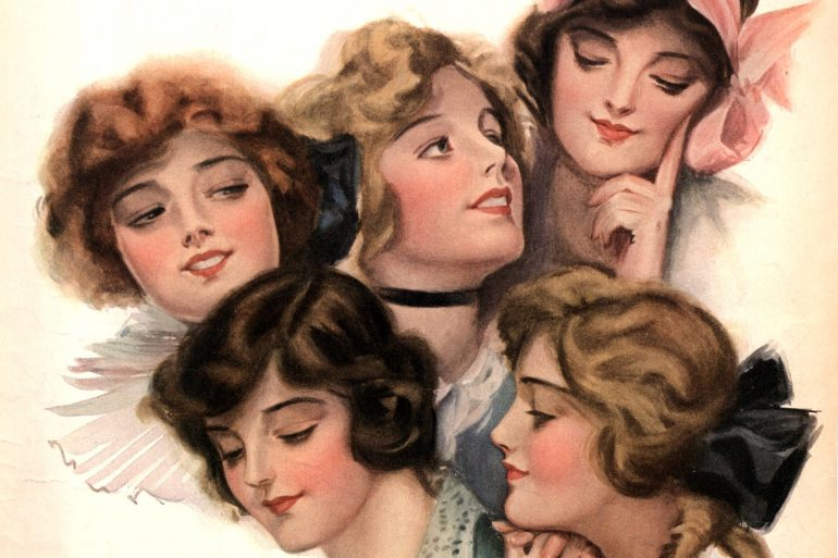 Beautiful women from the 1910s - ideas of beauty