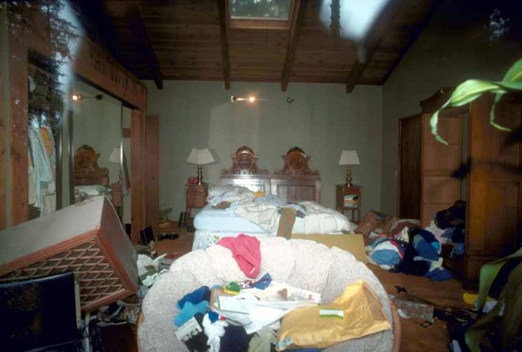 Bedroom showing effects of the earthquake J.K. Nakata, U.S. Geological Survey
