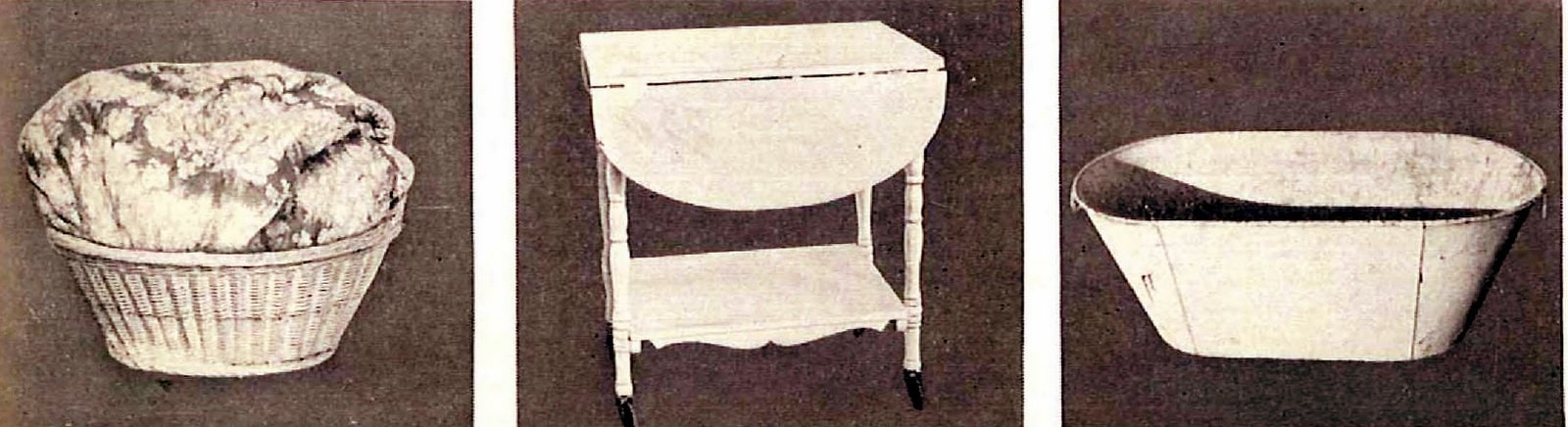 Before - antique baby nursery items before repainting