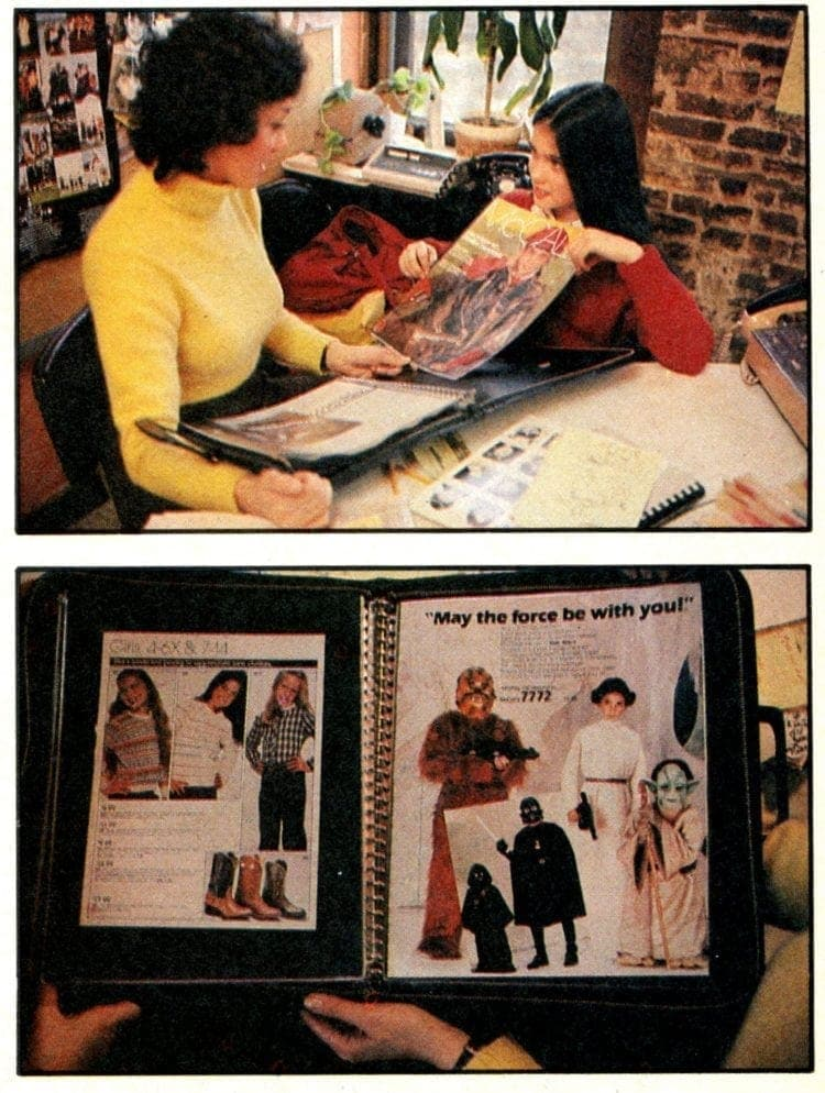 Jenny Connelly and her portfolio in Dynamite magazine, May 1982